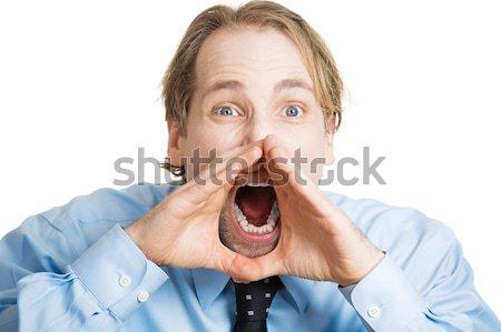 headshot displeased angry man screaming  Stock photo © ichiosea