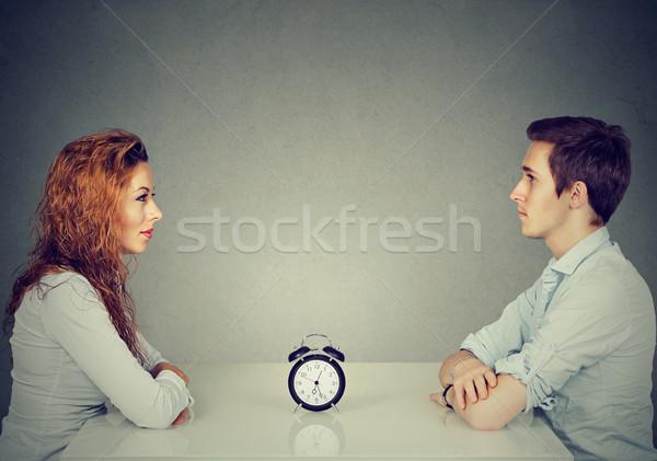 Velocità Incontri uomo donna seduta altro Foto d'archivio © ichiosea