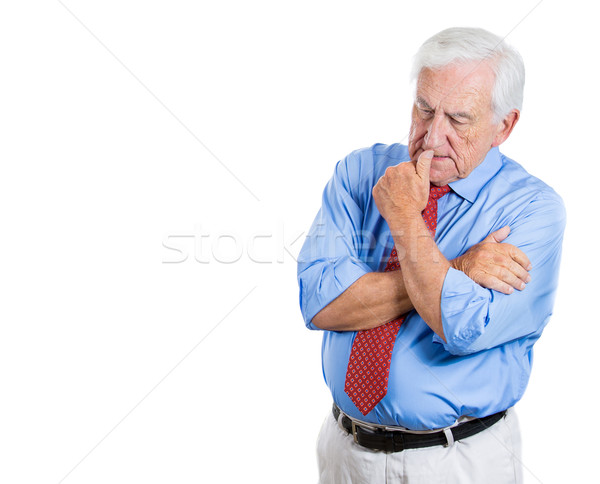old man thinking trying to recollect Stock photo © ichiosea