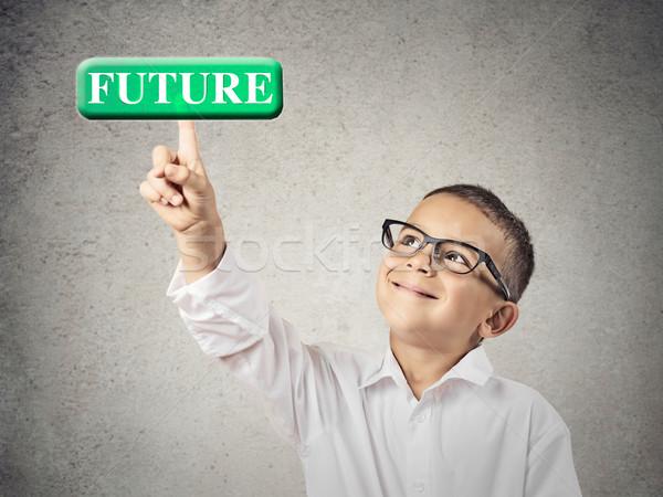 мальчика будущем кнопки портрет Сток-фото © ichiosea