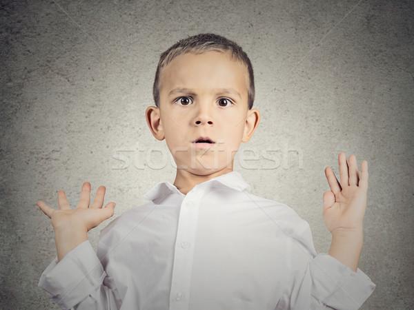 Peur enfant garçon portrait Photo stock © ichiosea