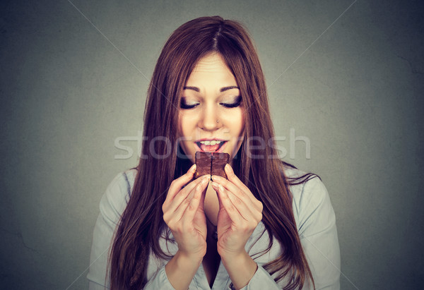 Woman tired of diet restrictions craving chocolate bar  Stock photo © ichiosea