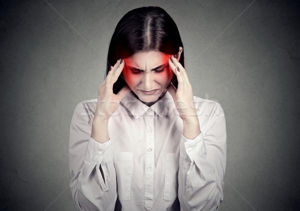 Sad stressed woman with headache  Stock photo © ichiosea