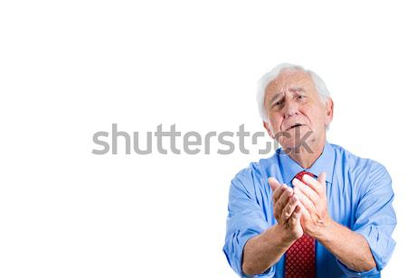 old man pleading  Stock photo © ichiosea