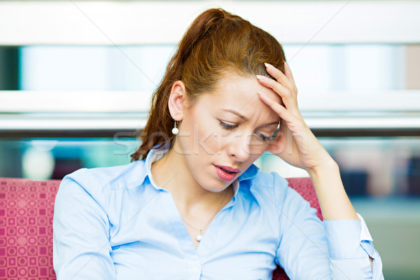 Depressed businesswoman Stock photo © ichiosea