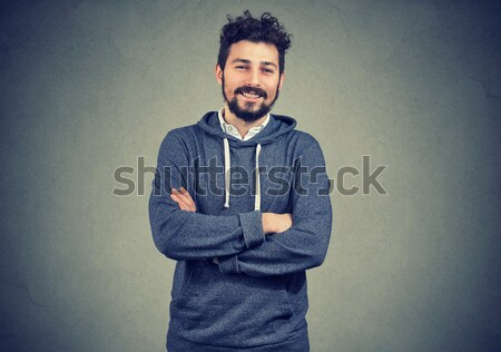 Young man with stomach pain indigestion Stock photo © ichiosea