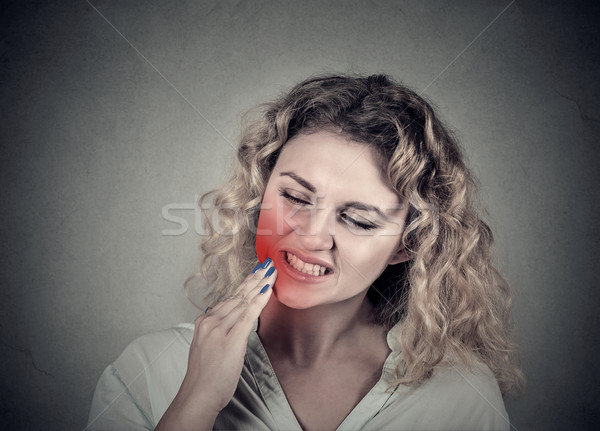 woman with sensitive tooth ache crown problem Stock photo © ichiosea