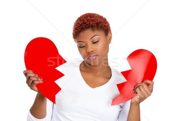 Sad woman with broken heart Stock photo © ichiosea