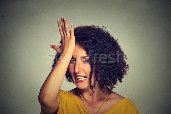 Mezzo età donna mano testa errore Foto d'archivio © ichiosea