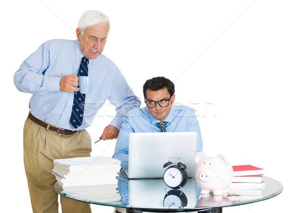 boss checking on his employee Stock photo © ichiosea