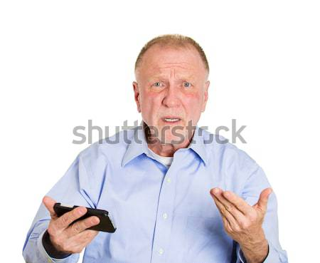 Angry man on cell phone Stock photo © ichiosea