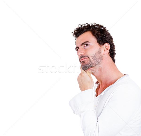 портрет красивый мужчина подбородок Сток-фото © ichiosea