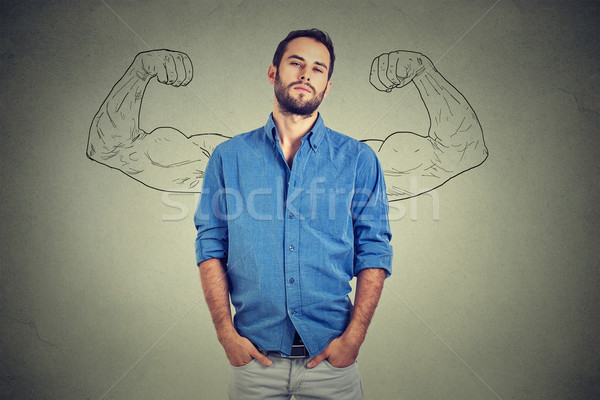 Strong man, self confident young entrepreneur Stock photo © ichiosea