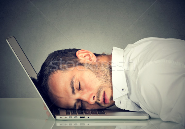 Business man sleeping on his laptop in his office  Stock photo © ichiosea