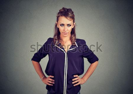 woman hands on stomach and back having bad aches pain Stock photo © ichiosea