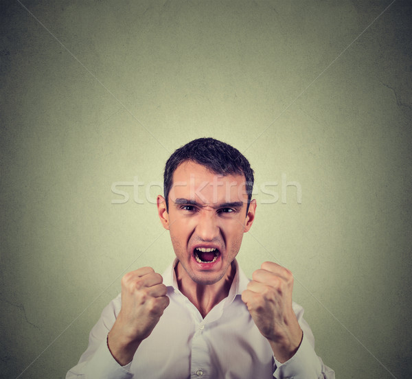 angry displeased young man screaming Stock photo © ichiosea