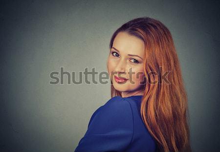 Redhead girl with long and shiny wavy hair Stock photo © ichiosea