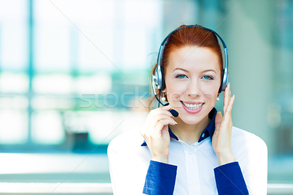 Female customer service representative Stock photo © ichiosea