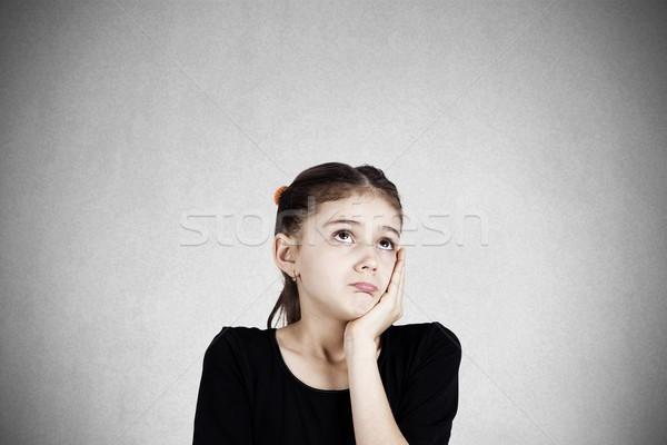 Triste little girl retrato sério Foto stock © ichiosea