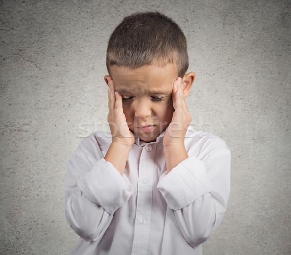 печально мальчика портрет Сток-фото © ichiosea