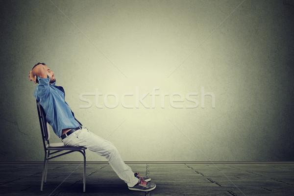 Oldal profil fiatal üzletember üres iroda Stock fotó © ichiosea