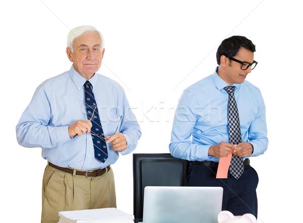 Werknemer portret oude ouderen zakenman Stockfoto © ichiosea