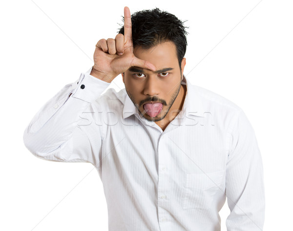 man showing loser sign Stock photo © ichiosea