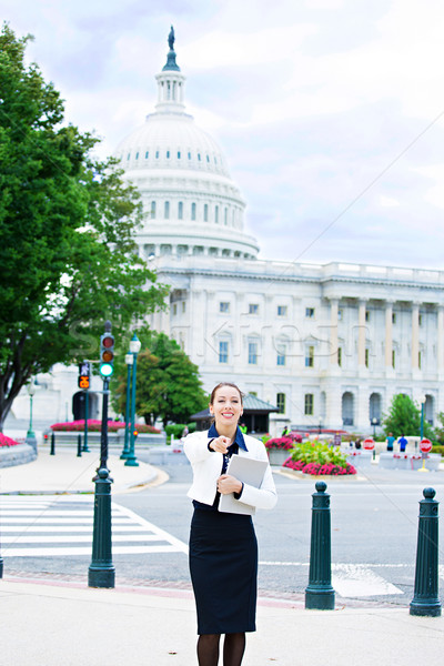 Woman on Capitol Hill Stock photo © ichiosea