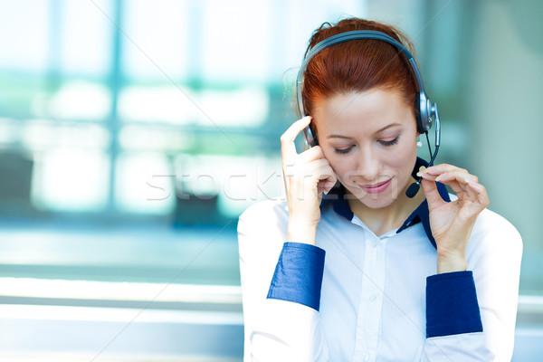 顧客サービス 代表 リスニング クライアント 問題 クローズアップ ストックフォト © ichiosea