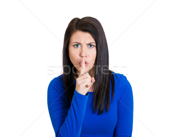 Woman saying stay quiet Stock photo © ichiosea