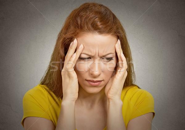 женщину страдание головная боль рук голову Сток-фото © ichiosea