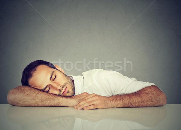 Man sleeping on a desk Stock photo © ichiosea
