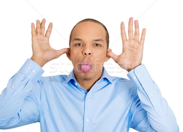 Immature portrait jeunes colère homme Photo stock © ichiosea