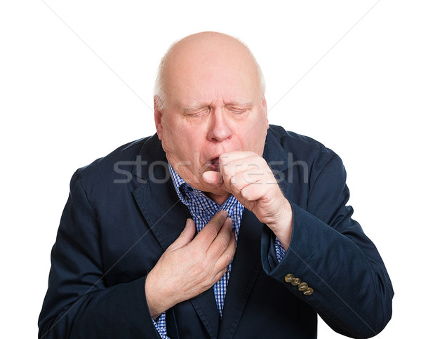 coughing old man Stock photo © ichiosea