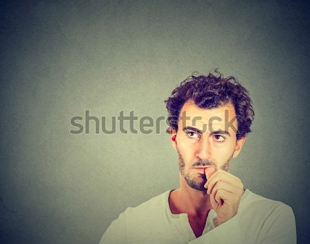displeased angry pissed off woman annoyed giving thumbs down gesture Stock photo © ichiosea