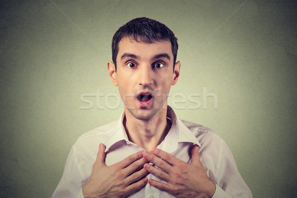 shocked man Stock photo © ichiosea