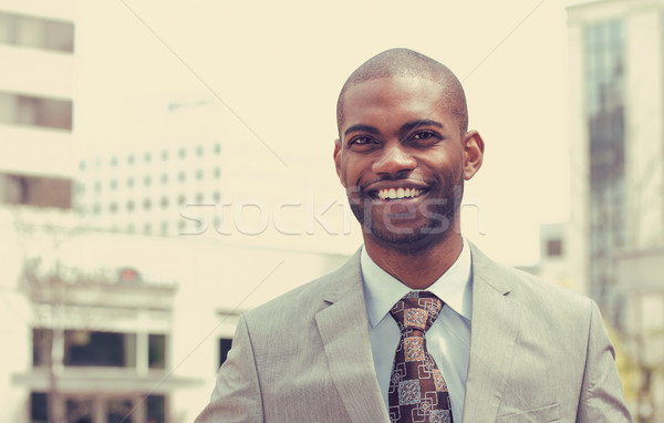 Headshot portrait of young man smiling  Stock photo © ichiosea