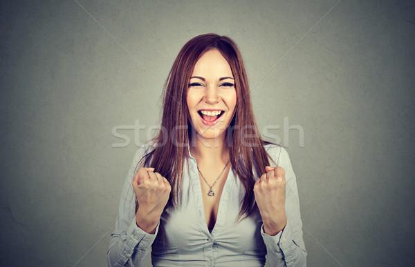 Di successo donna successo primo piano ritratto Foto d'archivio © ichiosea