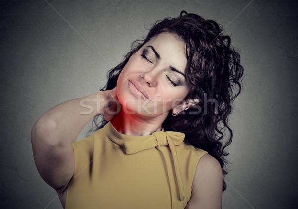 Maakt een reservekopie wervelkolom ziekte vrouw pijnlijk Stockfoto © ichiosea