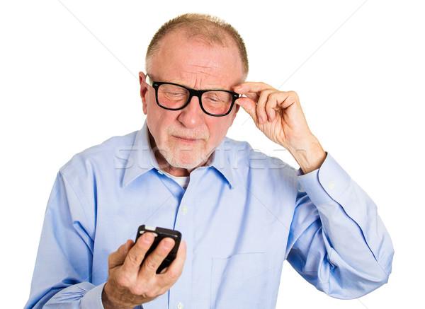 Blind old man Stock photo © ichiosea