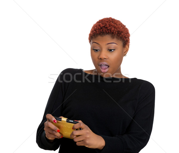 Shocked woman on phone Stock photo © ichiosea