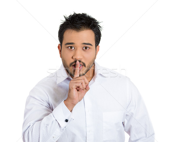 man with finger on lips Stock photo © ichiosea
