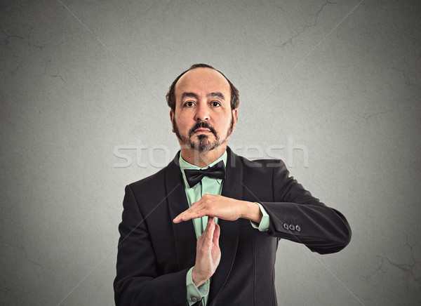 businessman executive showing time out sign hand gesture Stock photo © ichiosea