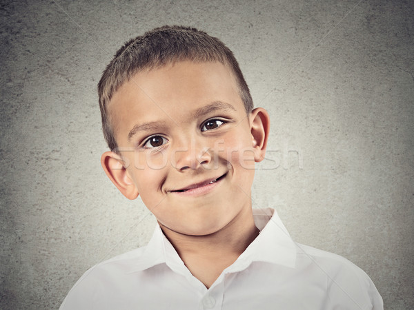 Headshot happy boy, child Stock photo © ichiosea