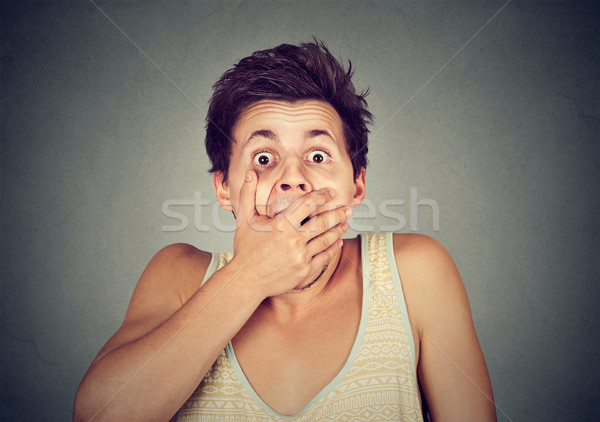 young man looking shocked scared  Stock photo © ichiosea
