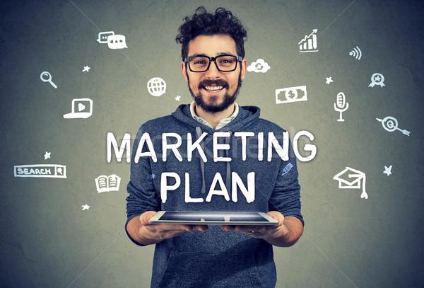 Content entrepreneur having marketing plan Stock photo © ichiosea