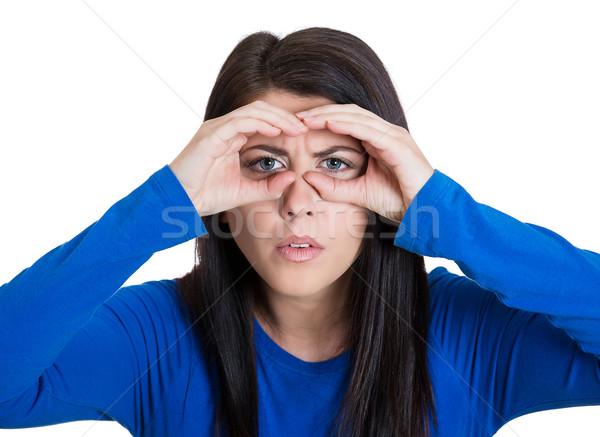 Woman peering Stock photo © ichiosea
