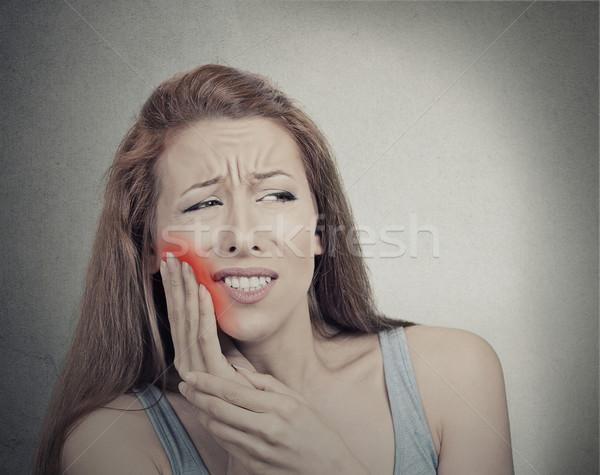 Donna delicato dente dolore corona problema Foto d'archivio © ichiosea