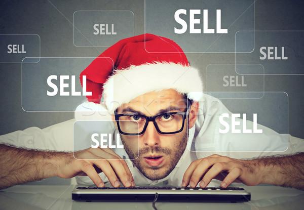 Natal homem de negócios seis internet Foto stock © ichiosea
