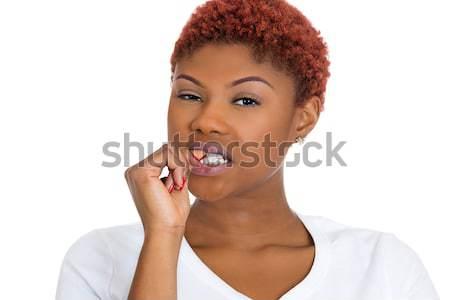 Stressed woman thinking Stock photo © ichiosea